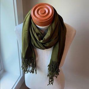 Olive pashmina style scarf by Jones New York